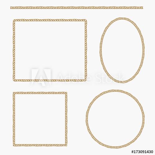 500x500 Set Of Rope Frame. Vector Illustration.