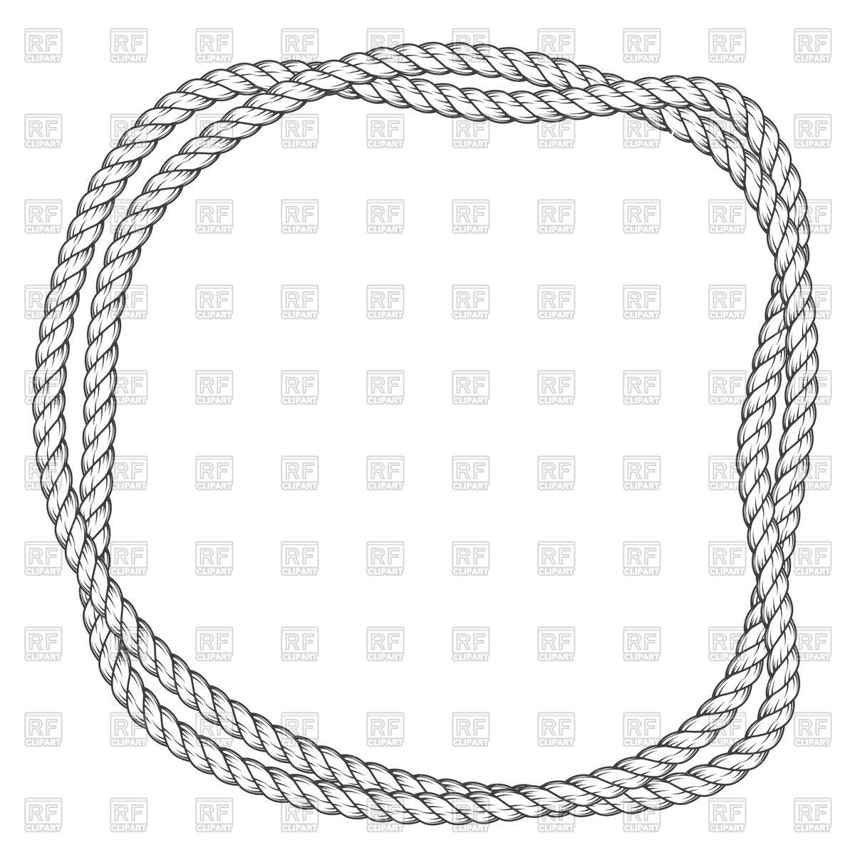 1200x1200 Twisted Round Rope Frame Vector Image Vector Artwork Of Borders