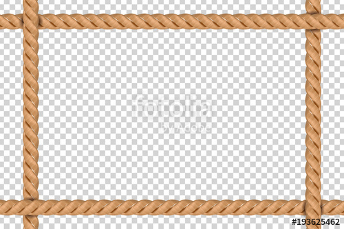 500x334 Vector Realistic Isolated Rope Frame For Decoration And Covering