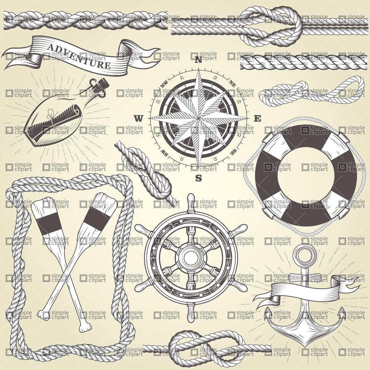 1200x1200 Vintage Seafaring Elements