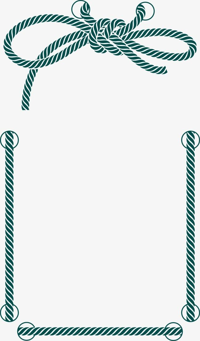650x1109 Rope,frame,decoration,decorative Vector,rope Vector,border Vector