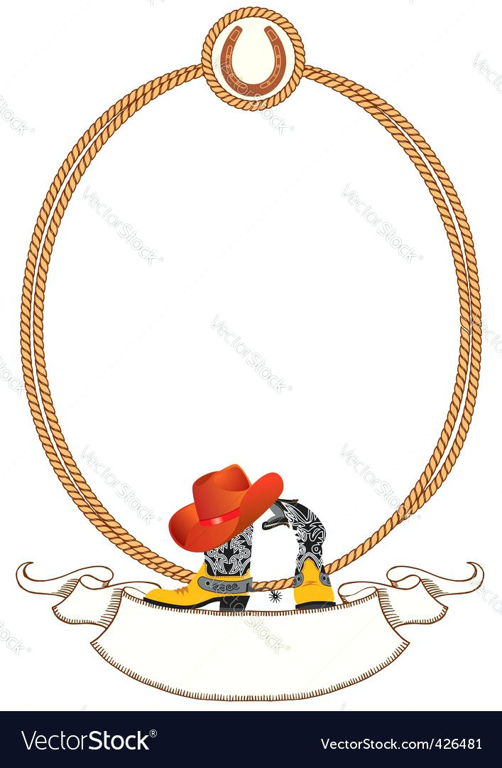 707x1080 Cowboy Rope Frame Vector Image Trick Ropes For Sale Kuapp