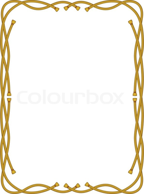 595x800 Frame From Rope Isolated On White Stock Vector Colourbox
