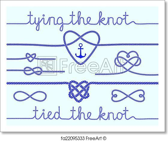560x470 Free Art Print Of Rope Hearts And Knots, Vector Set. Tying The