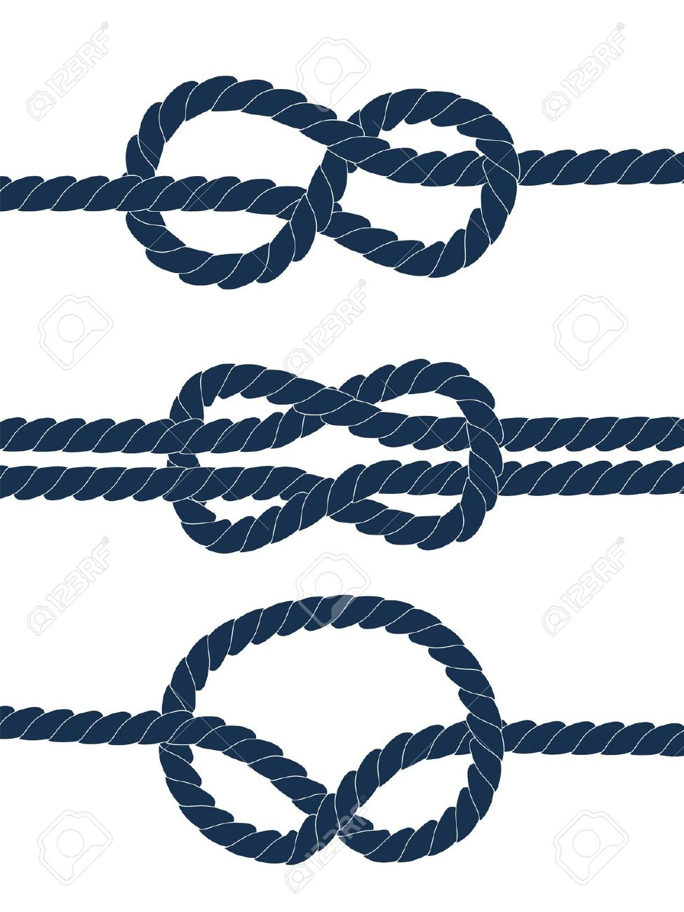 975x1300 Nautical Knots Vector Clipart