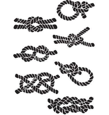 380x400 Nautical Rope Knot Vector Clipart