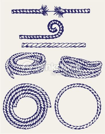 366x469 Nautical Rope Knots Vector Art 470752685 Doodles