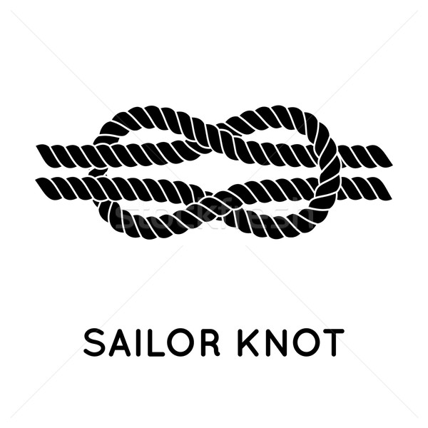 600x600 Sailor Rope Knot Vector Illustration Pakete ( 7234472) Stockfresh
