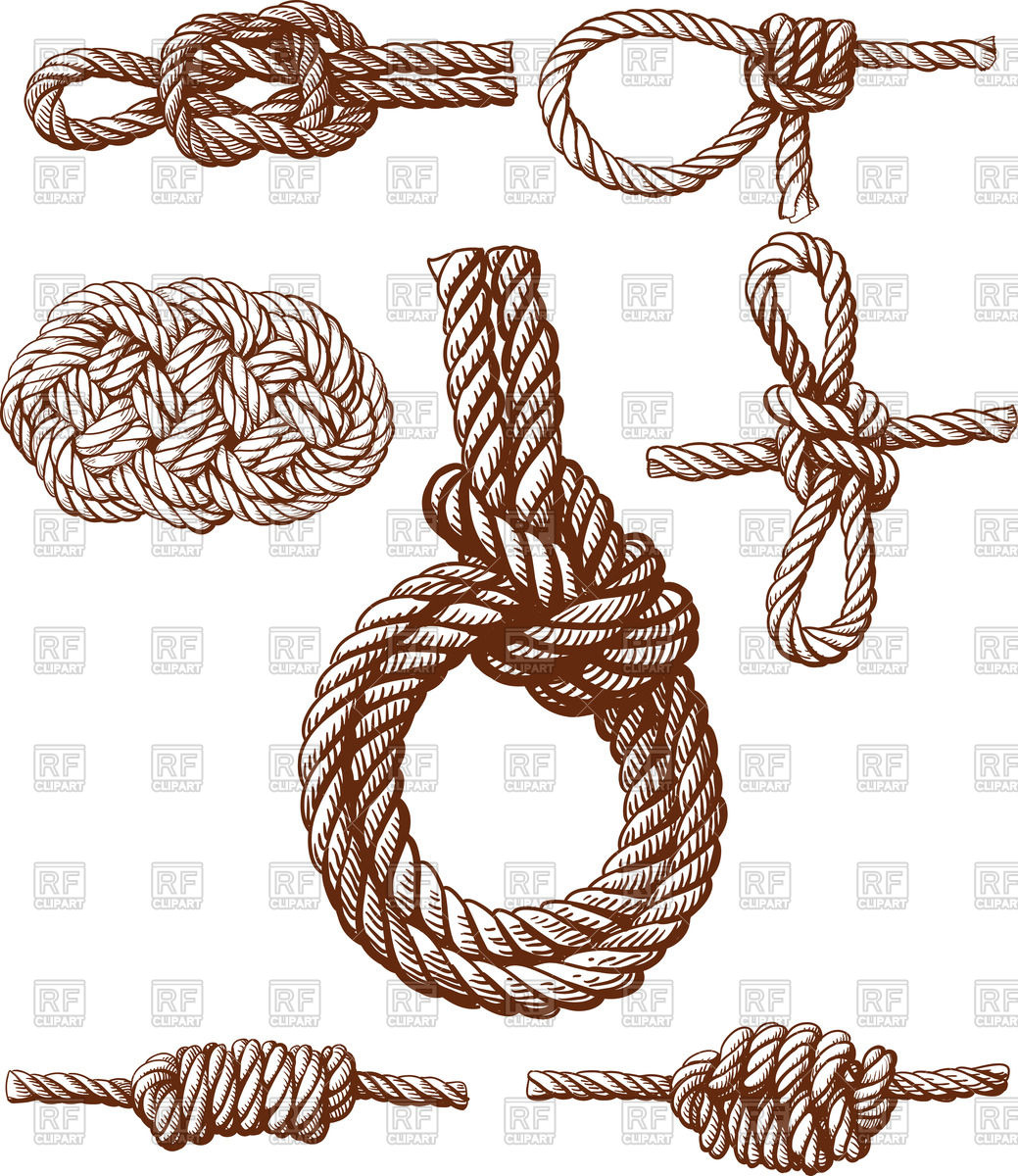 1039x1200 Set Of Several Nautical Knots Vector Image Vector Artwork Of