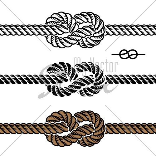 500x500 Vector Black Rope Knot Symbols