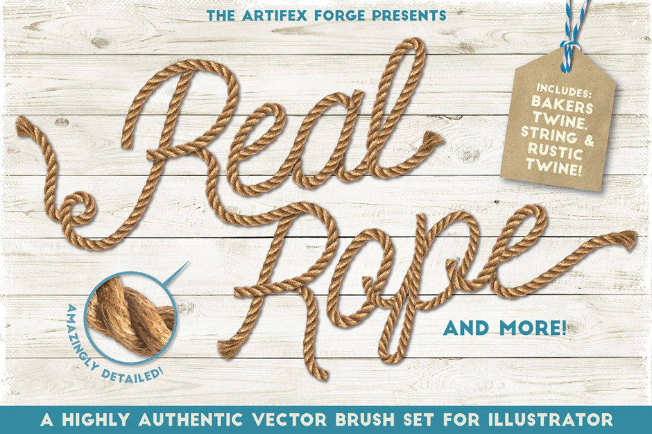 940x626 Real Rope Illustrator Brushes The Most Life Like Set Of Twine