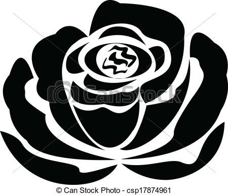 450x384 Logotipo, Rosa, Vector, Silueta, Negro. Rosa, Vector, Silueta, Negro.