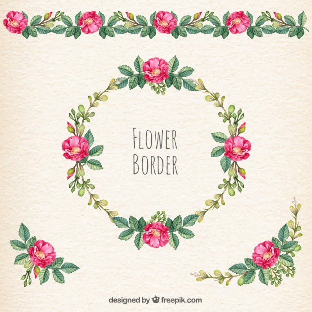 626x626 Flower Border Vector Free Download