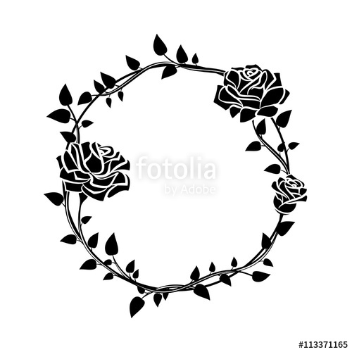 500x500 Frame Of Roses. Stylish Ornamental Border With Roses. Stock Image