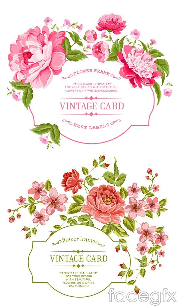 600x1021 Hand Painted Flowers Border Vector Watercolour