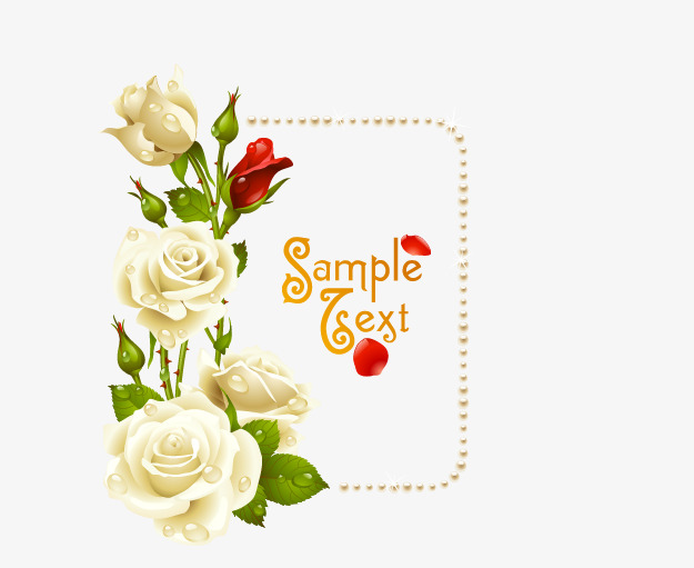 625x511 Rose Border, Rose Vector, Border Vector Png And Vector For Free