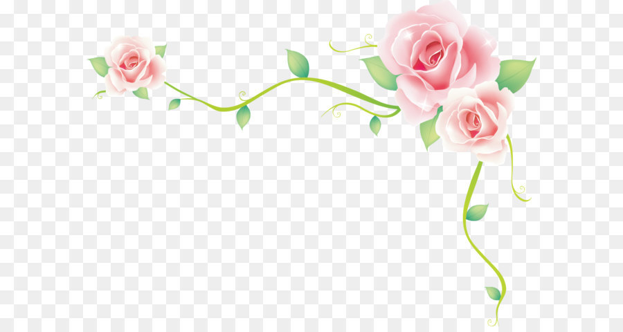 900x480 Rose Border Vector Rose Sea Png Download