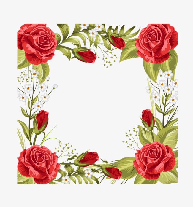 650x698 Vector Rose Border, Rose Vector, Border Vector, Rose Clipart Png