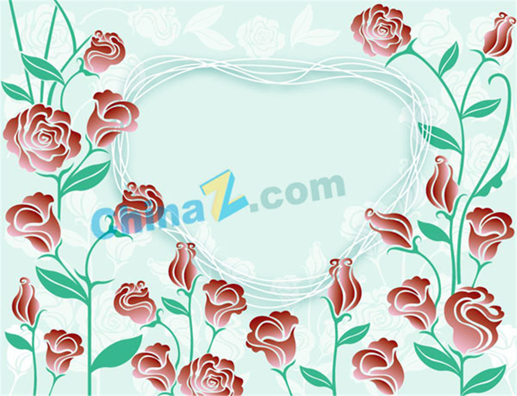 1024x783 Fine Rose Border Vector Free Download Ai Files
