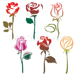 320x320 Pink Rose Stock Vector Colourbox