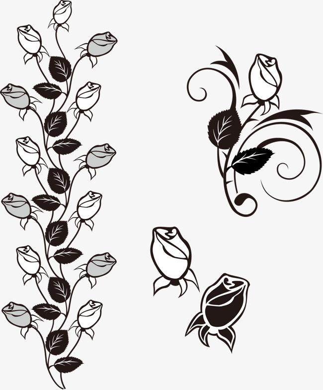 650x784 Rose Bud Decoration, Rose Vector, Decoration Vector, Rose Png And