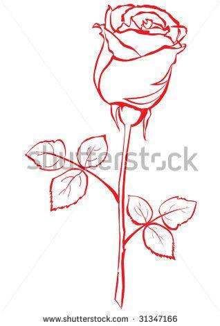 318x470 Small Rose Bud Tattoos Rose Bud