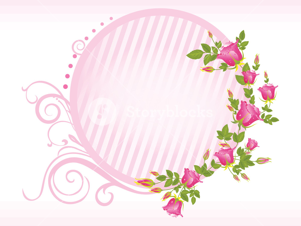 1000x750 Vector Rose Flower Frame Royalty Free Stock Image
