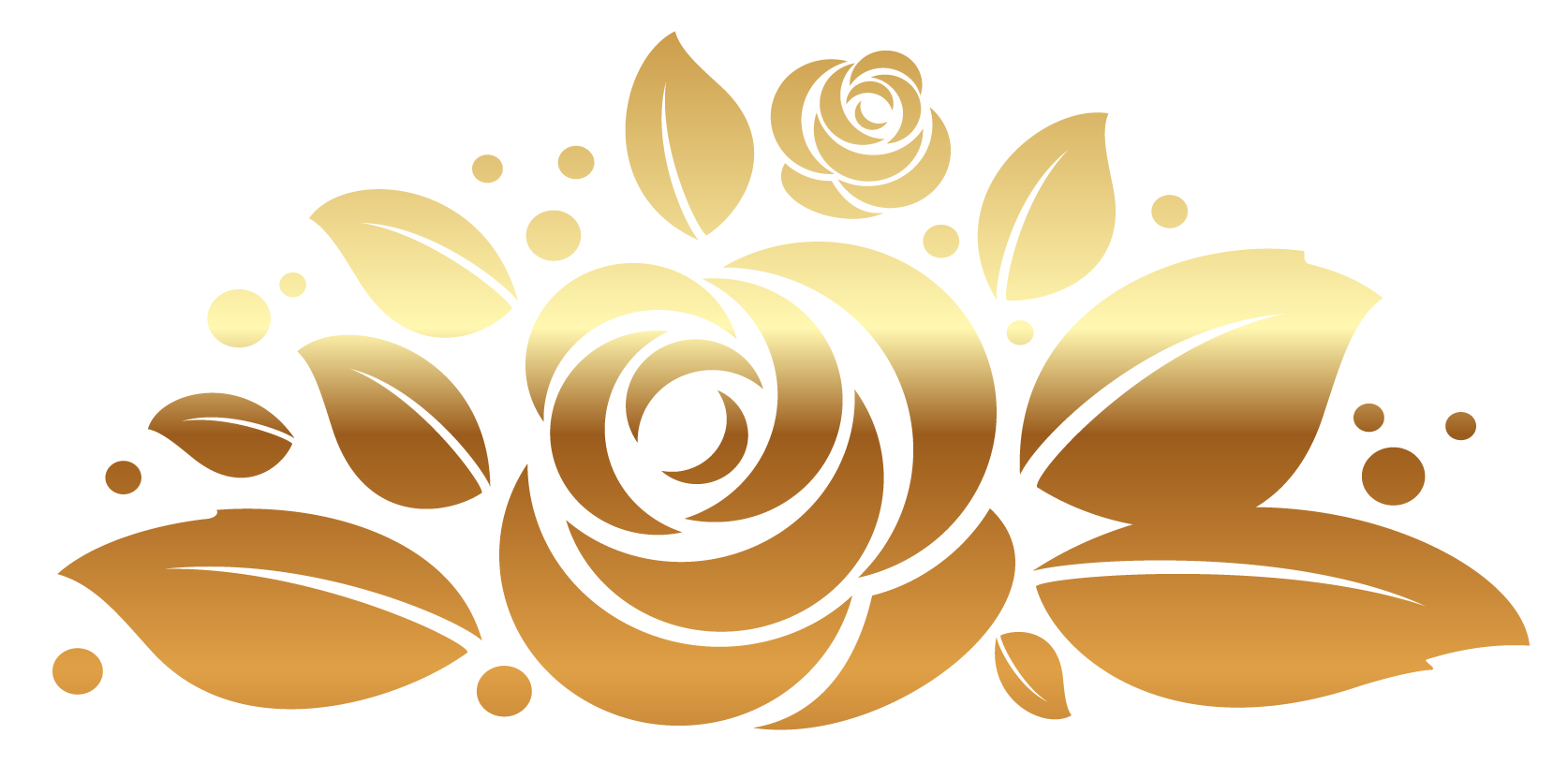 1674x832 Collection Of Free Gold Vector Rose. Download On Ubisafe