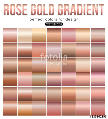 455x500 Rose Gold Gradient Perfect Colors For Design. Vector Illustration
