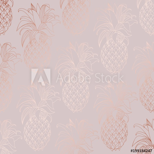 500x500 Rose Gold. Vector Decorative Pattern For Design And Decoration