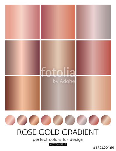 385x500 Set Of Rose Gold Gradients For Fashion Background, Wallpaper