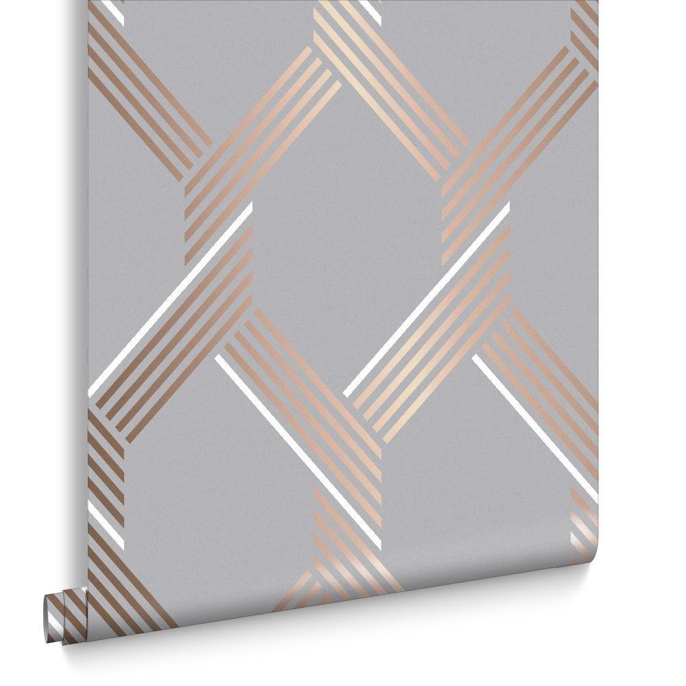 1000x1000 Vector Rose Gold Wallpaper Grey Wallpaper Graham Amp Brown