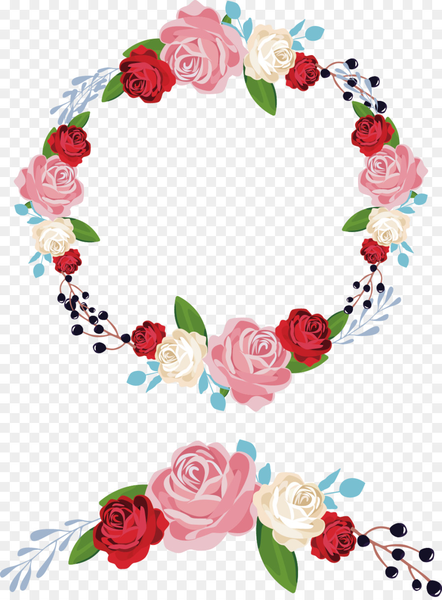 900x1220 Flower Wreath Garland Ornament