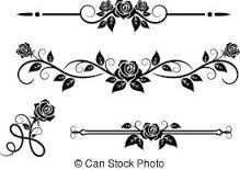 219x155 Vector Set Of Floral Calligraphic Elements, Dividers And Rose