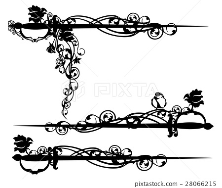 450x380 Epee Sword Among Rose Flowers Vector Design