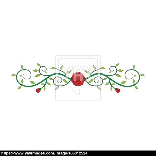 512x512 Flat Color Rose Ornament Icon Vector