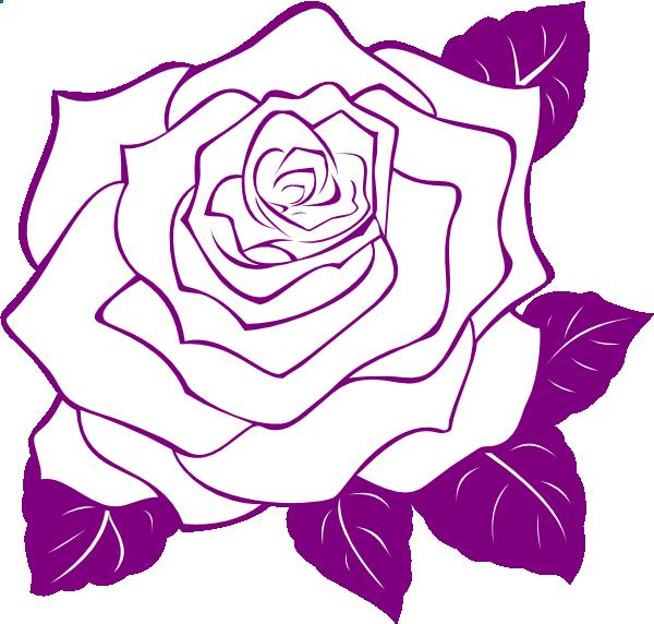 Rose Outline Vector