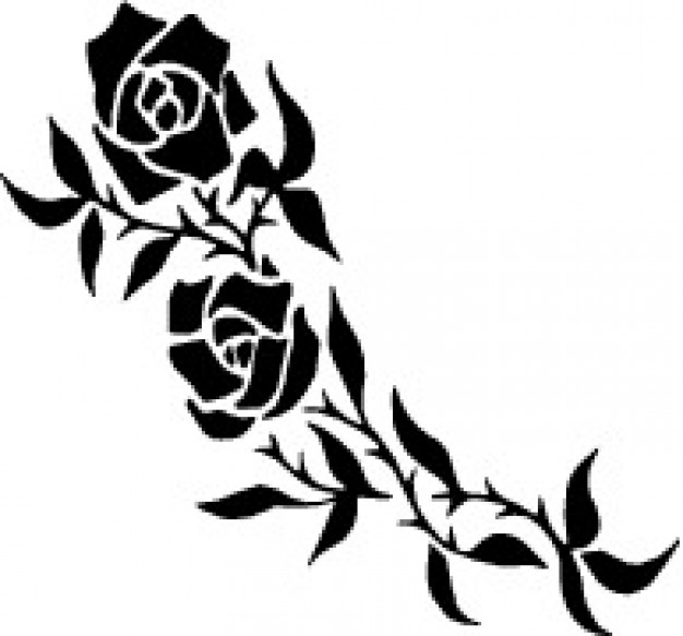 Rose Tattoo Vector At Getdrawings Com Free For Personal Use Rose