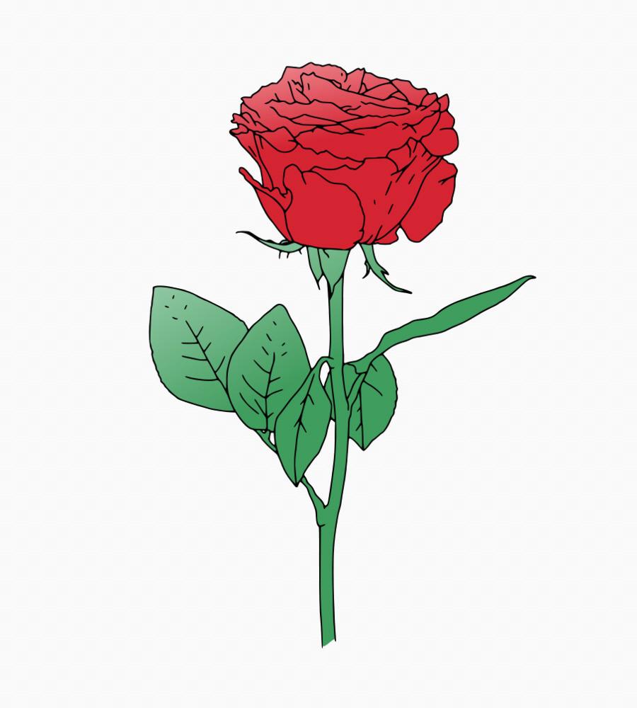 900x1000 Rose Vector New Rose Flower Clip Art Rose Vector Png 906 1000 Free