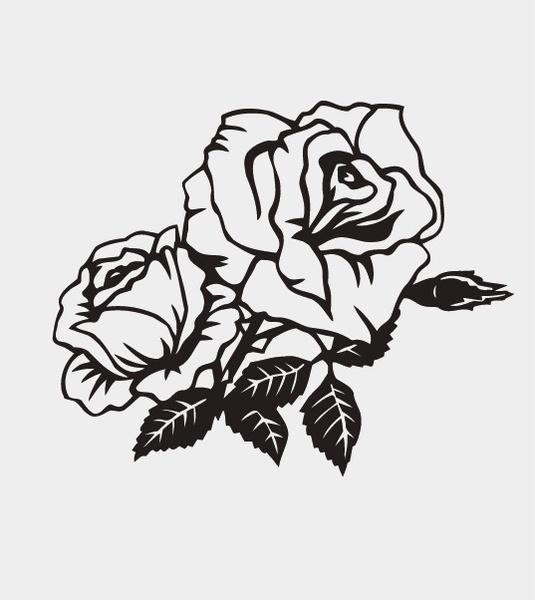 535x600 Rose Pattern Vector Free Vector In Adobe Illustrator Ai ( .ai