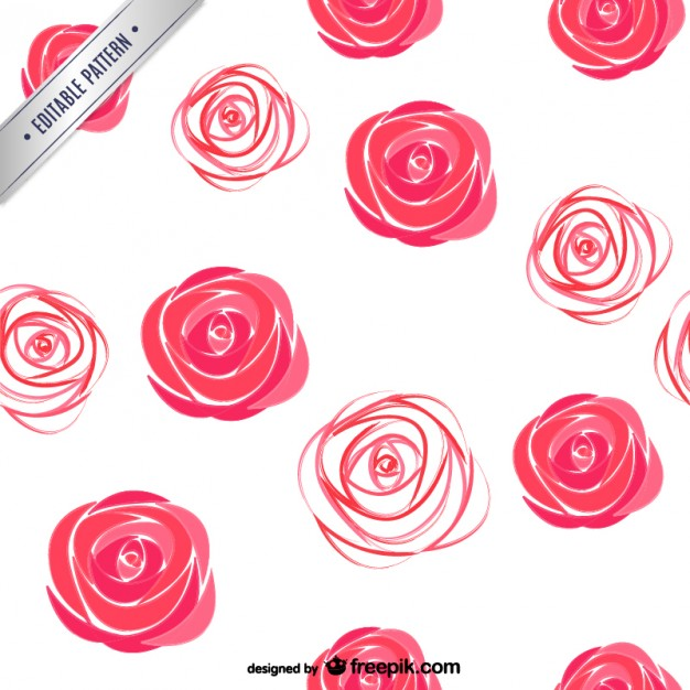 626x626 Watercolor Roses Pattern Vector Free Download