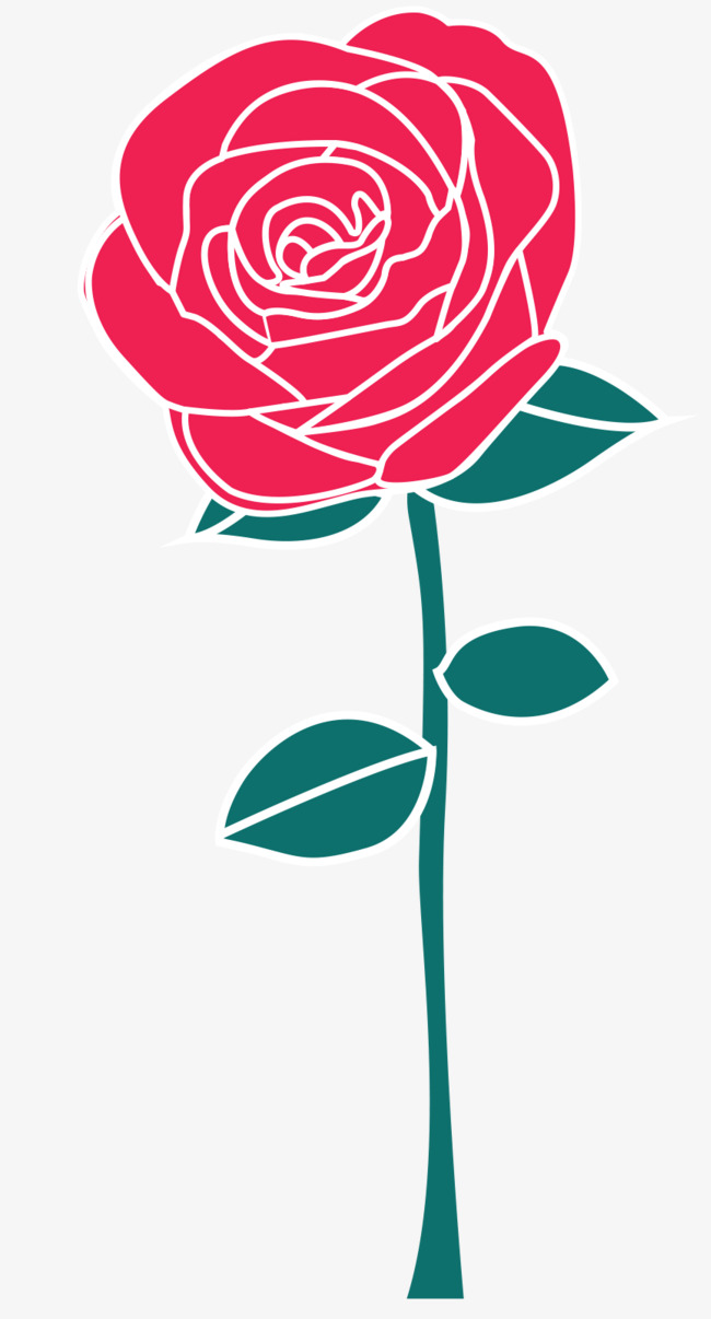 650x1206 Red Vector Rose, Rose Vector, Rose Clipart, Rose Pen Png And