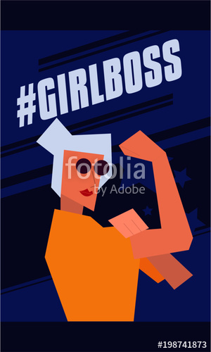 300x500 Girl Boss Modern Abstract We Can Do It Rosie The Riveter Women