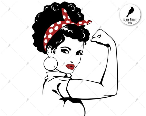 570x456 Rosie The Riveter Svg Afro Rosie Svg Strong Woman Svg Rosie Etsy