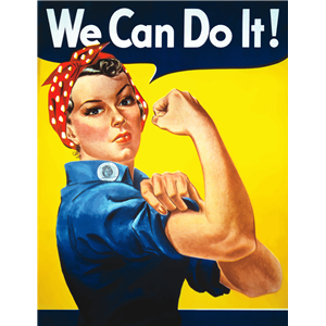 300x300 We Can Do It Rosie The Riveter Poster Clipart, Cliparts Of We Can