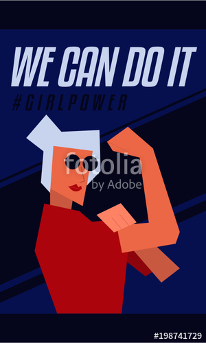 300x500 We Can Do It Modern Abstract We Can Do It Rosie The Riveter Women