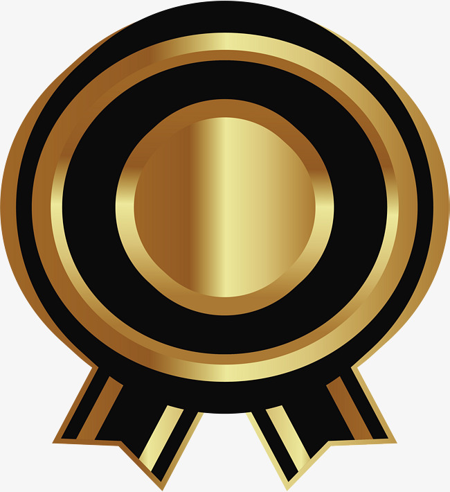 650x710 Golden Round Badge, Round Vector, Badge Vector, Vector Png Png And