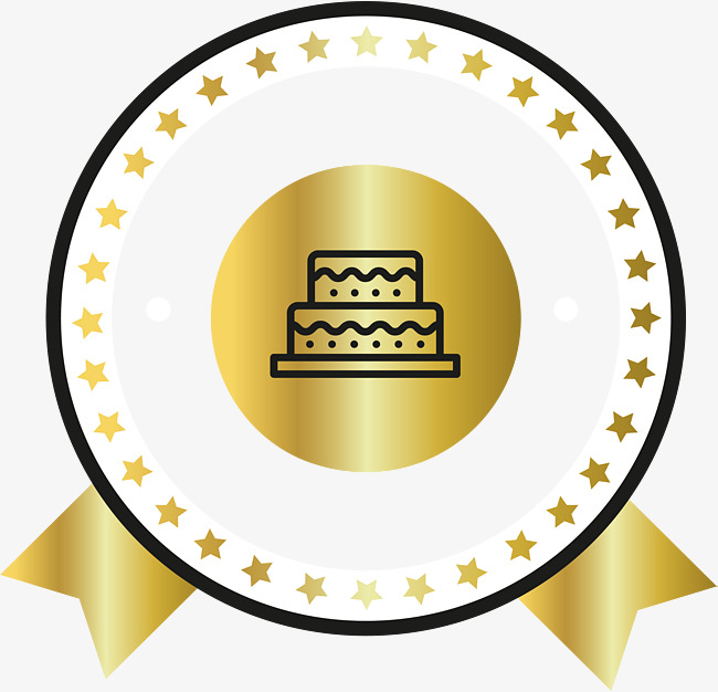 650x626 Round Gold Badge, Vector Png, Golden Badge, Round Badge Png And
