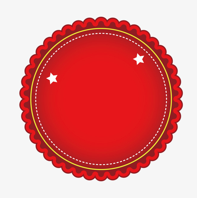 650x651 Red Round Label, Round Vector, Label Vector, Gules Png And Vector