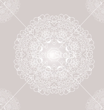 357x376 Free Ornamental Round Lace With Damask And Arabesque Vector Free